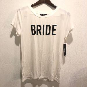 Lulus || New Bride White Shirt Top